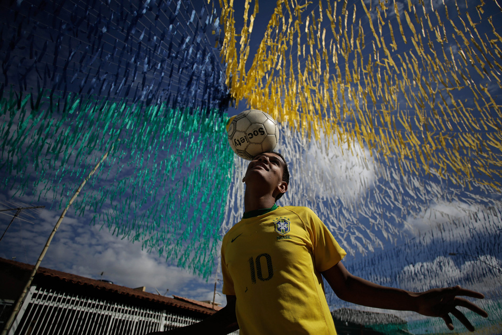 Vor der WM in Brasilia, Brasilien (Keystone/AP Photo/Eraldo Peres)