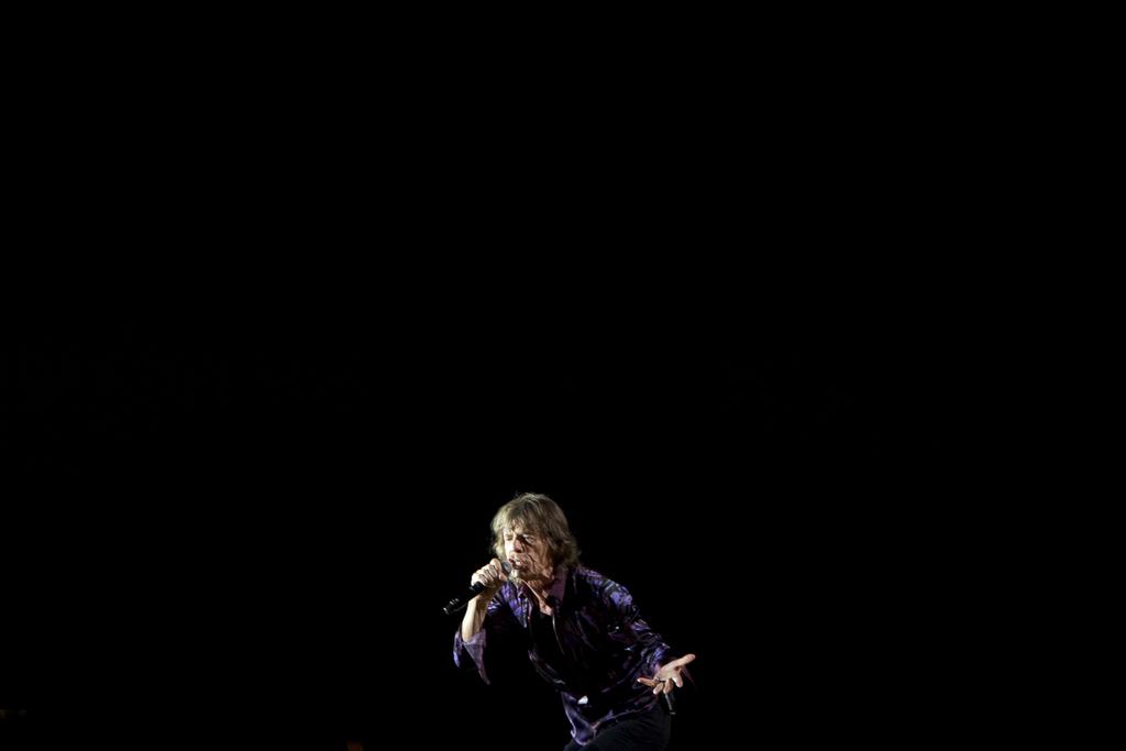 Mick Jagger in Tel Aviv, Israel (Keystone/AP Photo/Ariel Shalit)