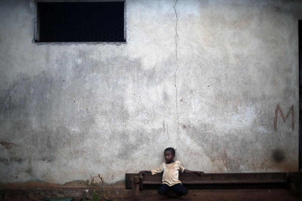 Flüchtlingskind in Carnot, Zentralakfrika (Keystone/AP Photo/Jerome Delay)