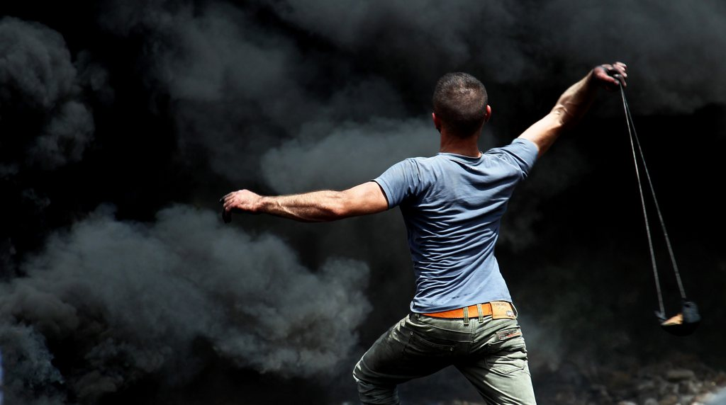 Proteste in Kofr Qadom, Nablus (Keystone/EPA/Alaa Badarneh)
