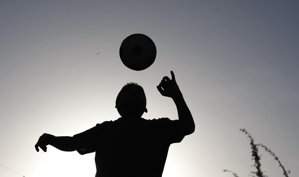 Fußballspielen in Sanaa, Yemen (Keystone/AP Photo/Hani Mohammed)