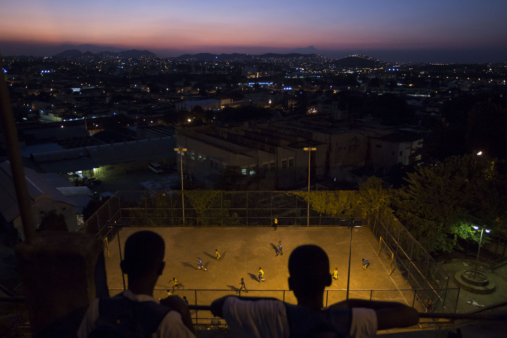 Fußballspiel in Rio de Janeiro, Brasilien (AP Photo/Felipe Dana)