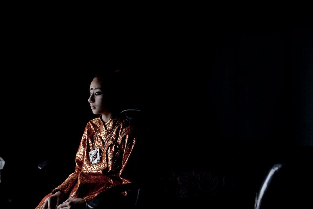 Nepalesisches Mädchen, das als Inkarnation einer Göttin verehrt wird, EPA/NARENDRA SHRESTHA