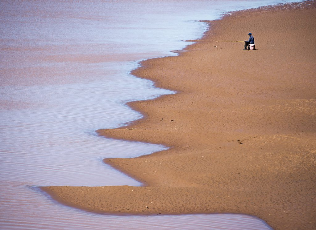 Fischer am Stewiacke River in Scotia, Kanada (Keystone/AP Photo/Andrew Vaughan)
