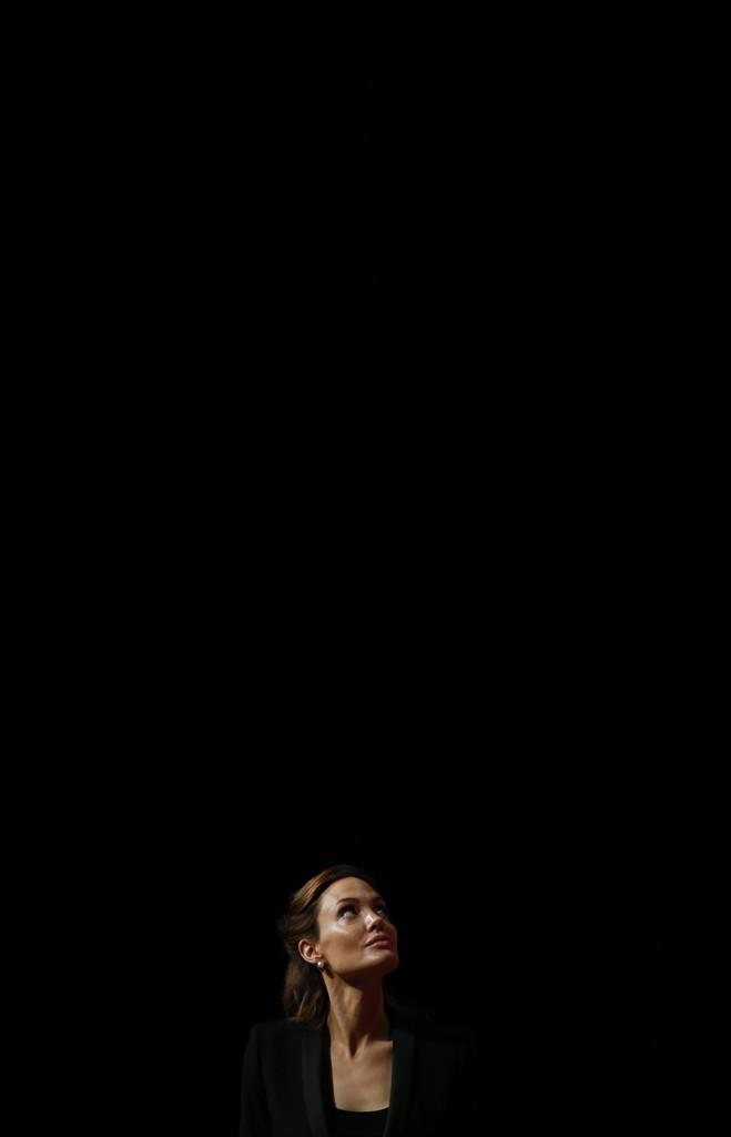 Angelina Jolie in London, Großbritannien (Keystone/AP Photo/Lefteris Pitarakis)