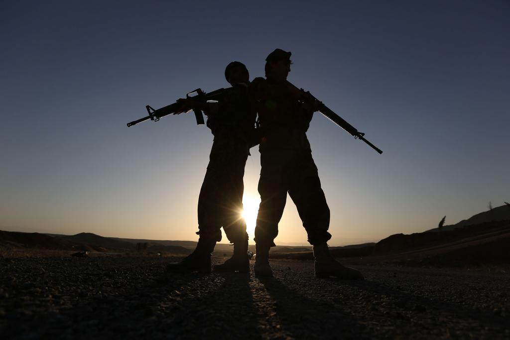 Wachposten in Kabul, Afghanistan (Keystone/AP Photo/Rahmat Gul)