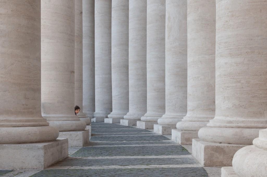 Rom Petersplatz mit kleinem Jungen