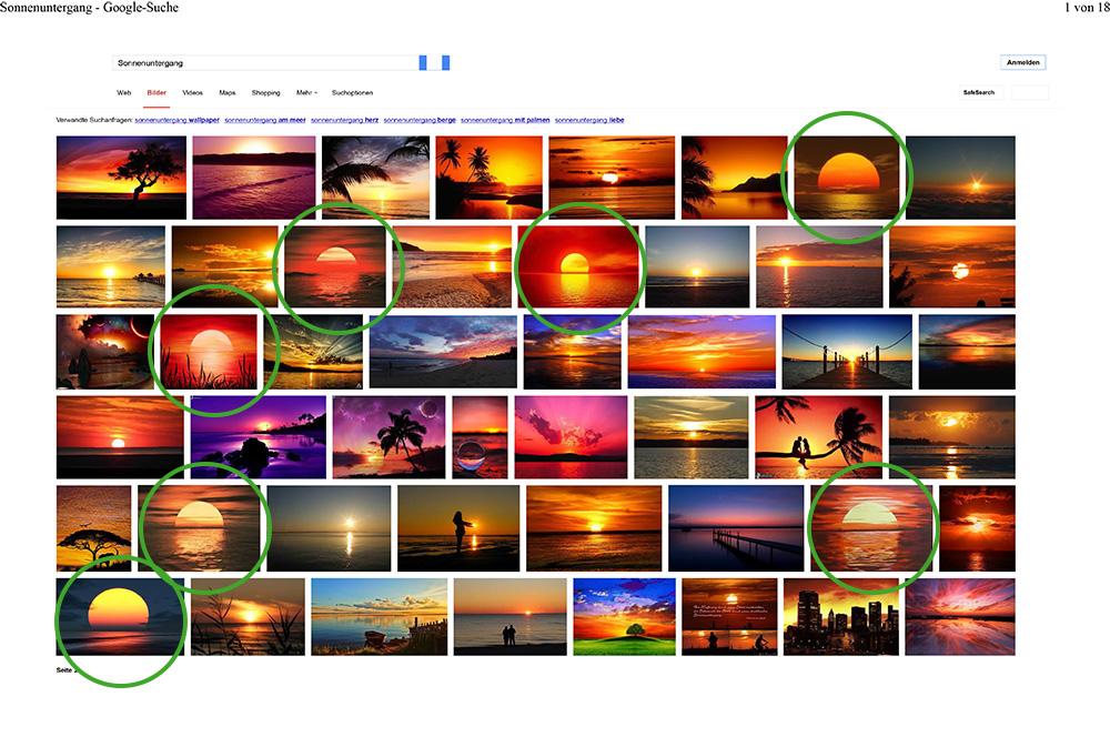 Abb. 8: Bildersuche bei Google mit Auswahl