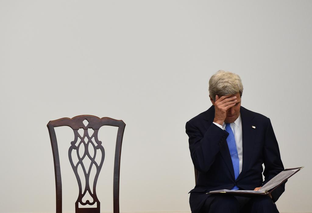 John Kerry in Washington, USA (Keystone/AP Photo/Molly Riley)