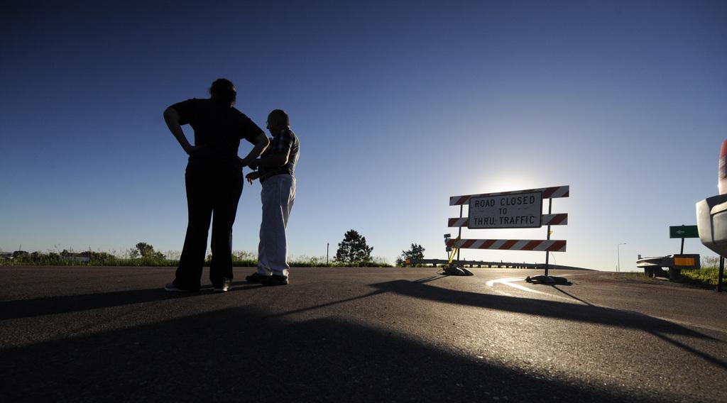 Warten auf Hochwasser in North Sioux City, USA (Keystone/AP Photo/Dave Weaver)