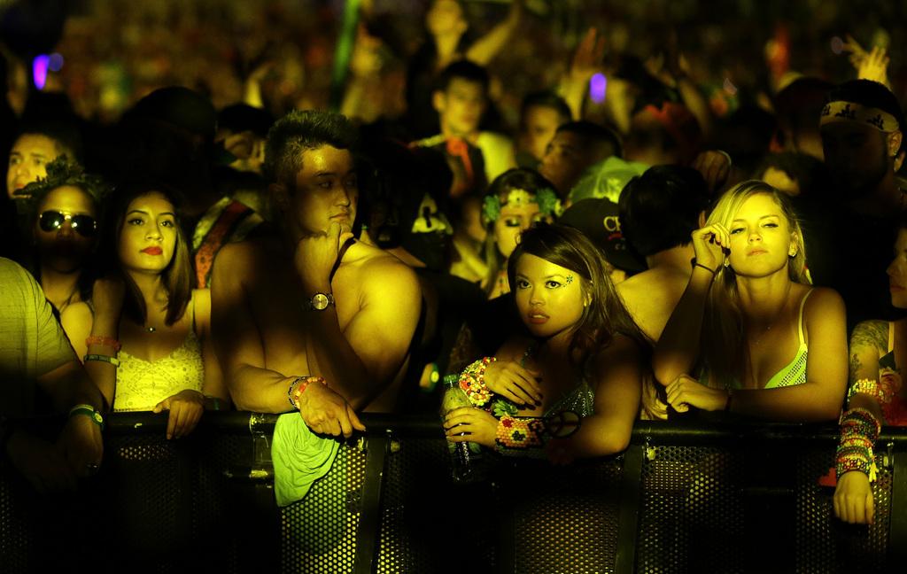 Festivalbesucher in Las Vegas, USA (AP Photo/John Locher)