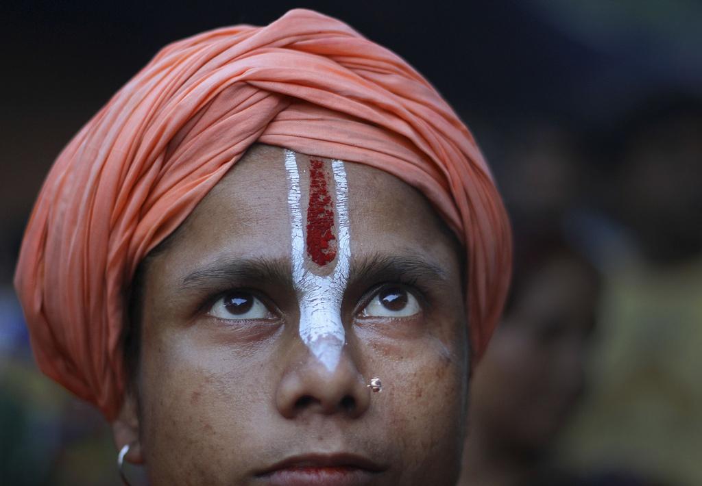 Gottesdienst in Gauhati, Indien (Keystone/AP Photo/Anupam Nath)