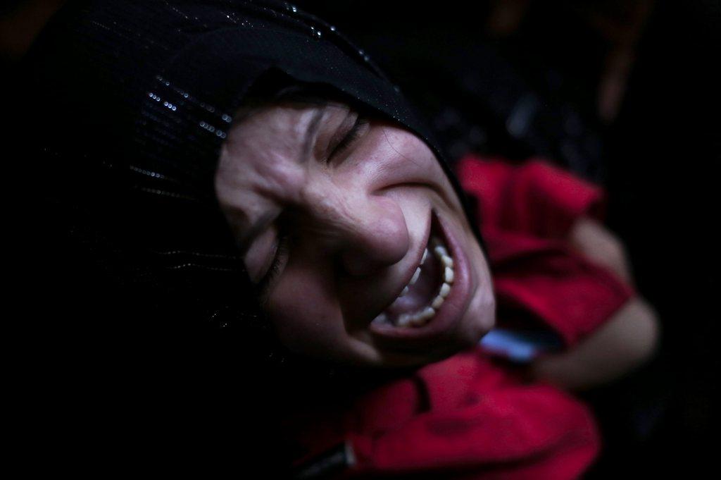 Trauer in einem Flüchtlingscamp nördlich von Jerusalem, West Bank (Keystone/EPA/Atef Safadi)