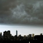 Sturmwolken über Chicago, USA (AP Photo/Kiichiro Sato)