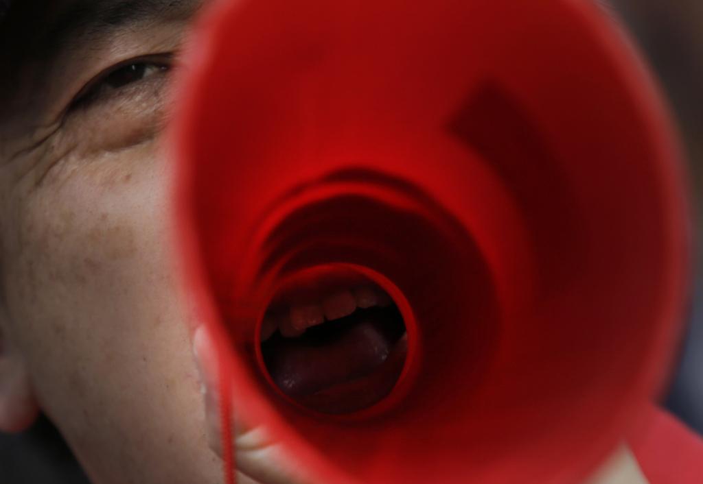 Protest gegen die Regierung in Tokio, Japan  (AP Photo/Eugene Hoshiko)