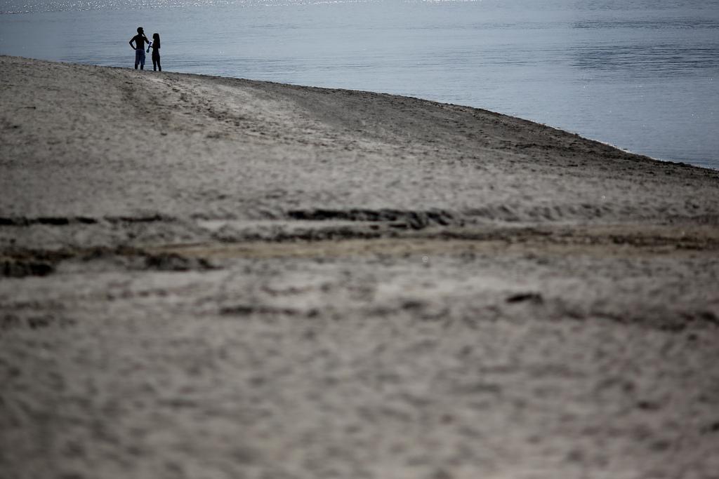 Am Strand von Tokyo, Japan (Keystone/AP Photo/Eugene Hoshiko)