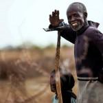 Ein Bauer in Karbab, Süd Dafur (Keystone/EPA/Albert Gonzalez Farran)