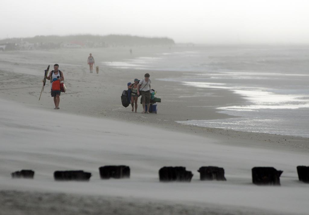 Wolken über Carolina Beach, USA (Keystone/AP Photo/Mike Spencer)