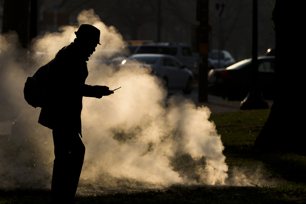 Kalter Morgen in Philadelphia, USA (Keystone/AP Photo/Matt Rourke)