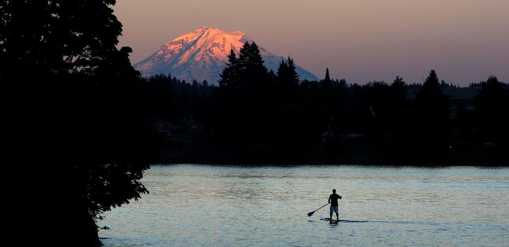 Sonnenuntergang im Pat Carey Park, USA (Keystone/AP Photo/Larry Steagall)