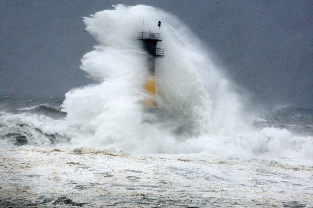 Sturm vor Jeju Island, Südkorea (Keystone/AP Photo/Ko Sung-sik)
