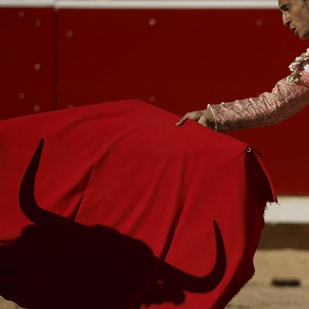 Stierkampf in Pamplona, Spanien (Keystone/AP Photo/Daniel Ochoa de Olza)