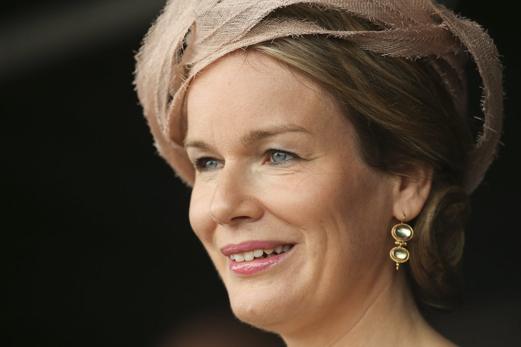 Portrait von Königin Mathilde in Zeebrugge, Belgien (Keystone/EPA/Oliver Hoslet)