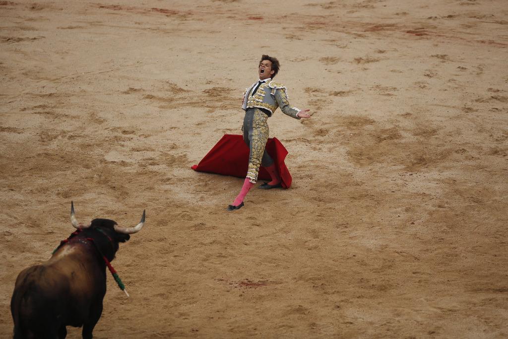 Stierkämpfer El Juli in Pamplona, Spanien (Keystone/AP Photo/Andres Kudacki)