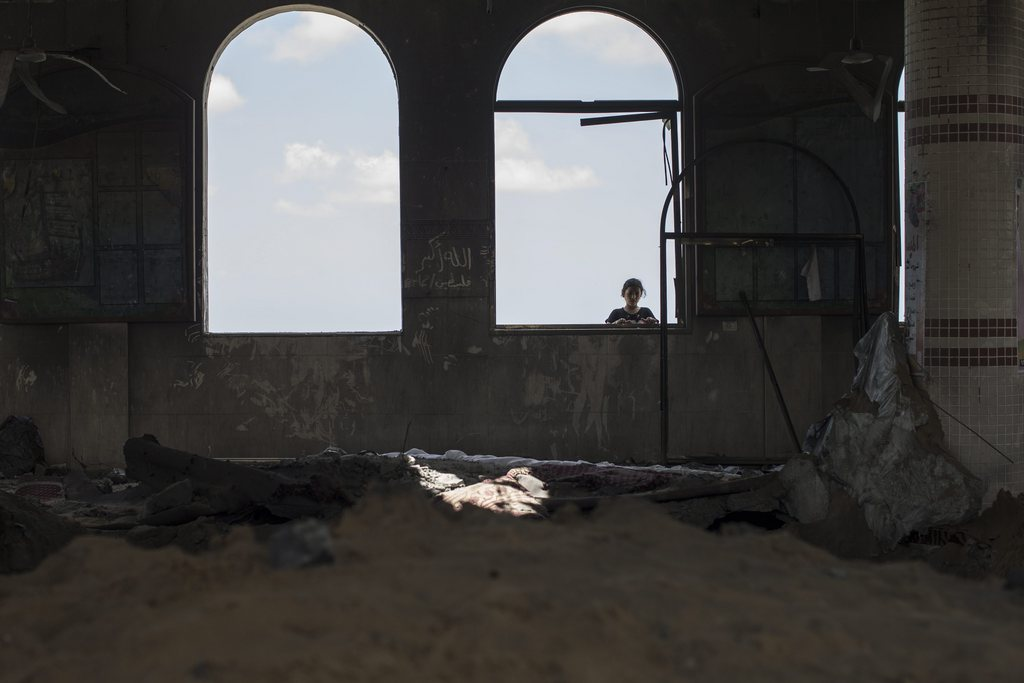 Zerstörte Mosche, Gaza-Streifen, Palästina, EPA/OLIVER WEIKEN