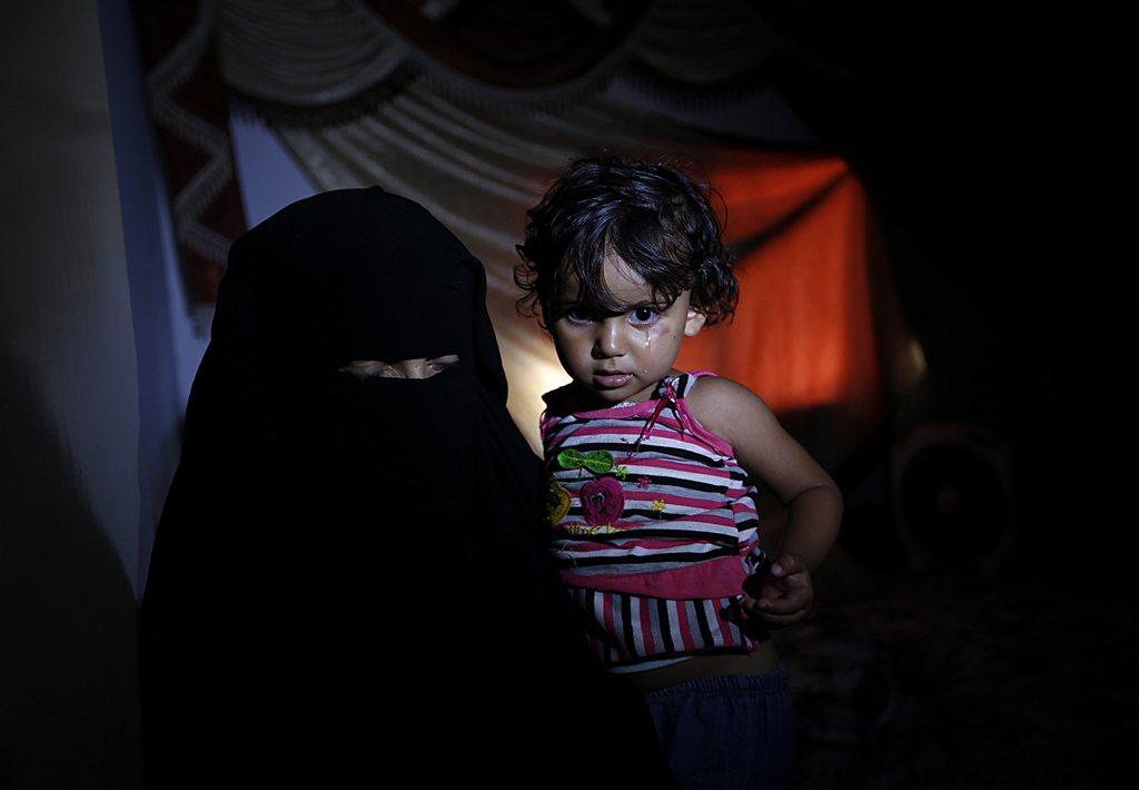 Bei einer Beerdigung in Gaza Stadt (Keystone/EPA/Mohammed Saber)