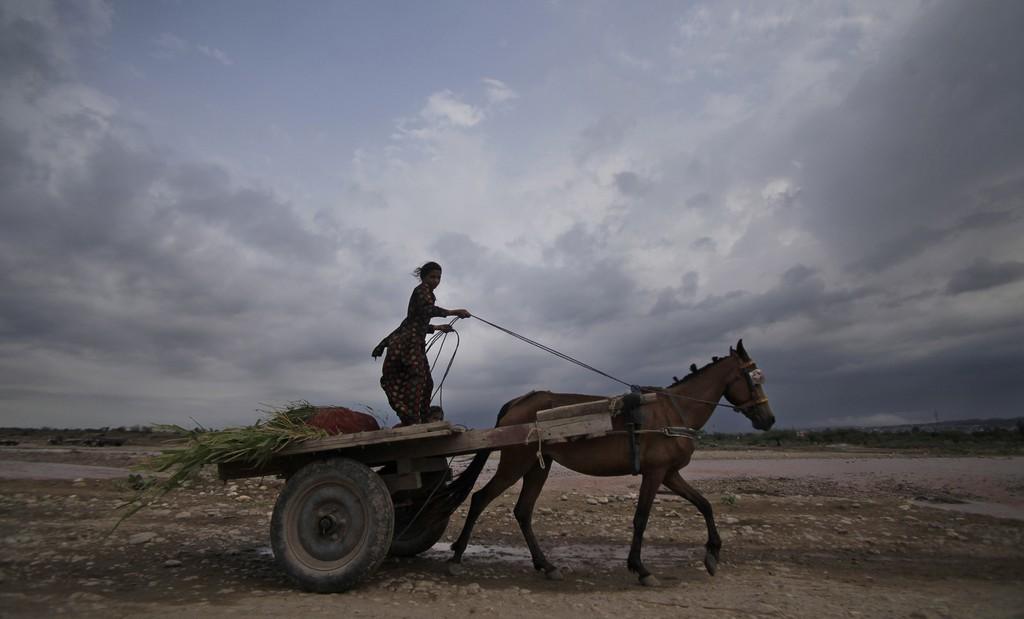 Gewitterwolken über Jammu, Indien (Keystone/AP Photo/Channi Anand)