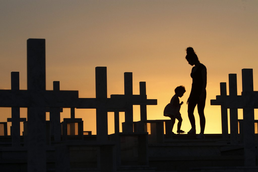 Auf dem Soldatenfriedhof Tymvos Macedonitissas, Zypern (Keystone/EPA/Katia Christodoulou)