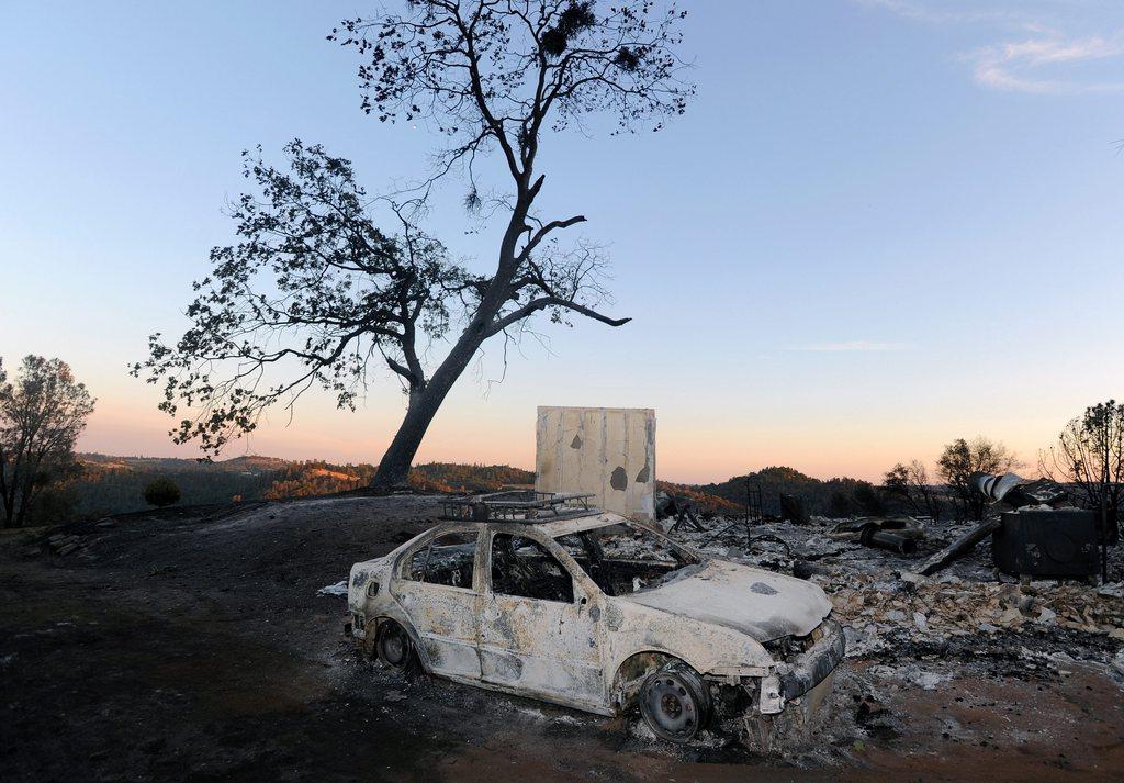 Landschaft nach einem Flächenbrand, Plymouth, Nordkalifornien, USA, EPA/JOSH EDELSON