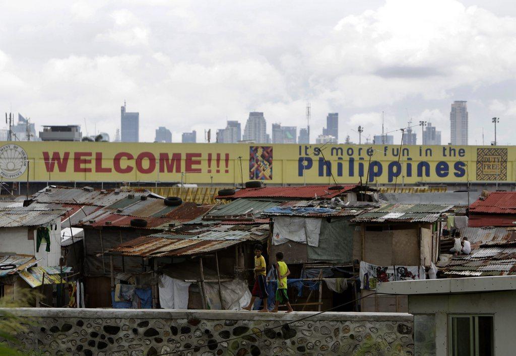 Ein Slum südlich von Manila, Phillippinen, EPA/RITCHIE B. TONGO
