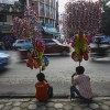 Souvenirverkäufer in Kathmandu, Nepal, EPA/NARENDRA SHRESTHA