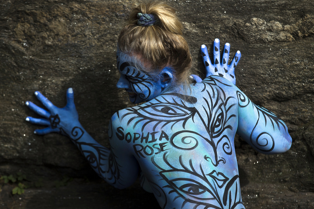 Body-Painting in New York, USA (Keystone/AP Photo/John Minchillo)