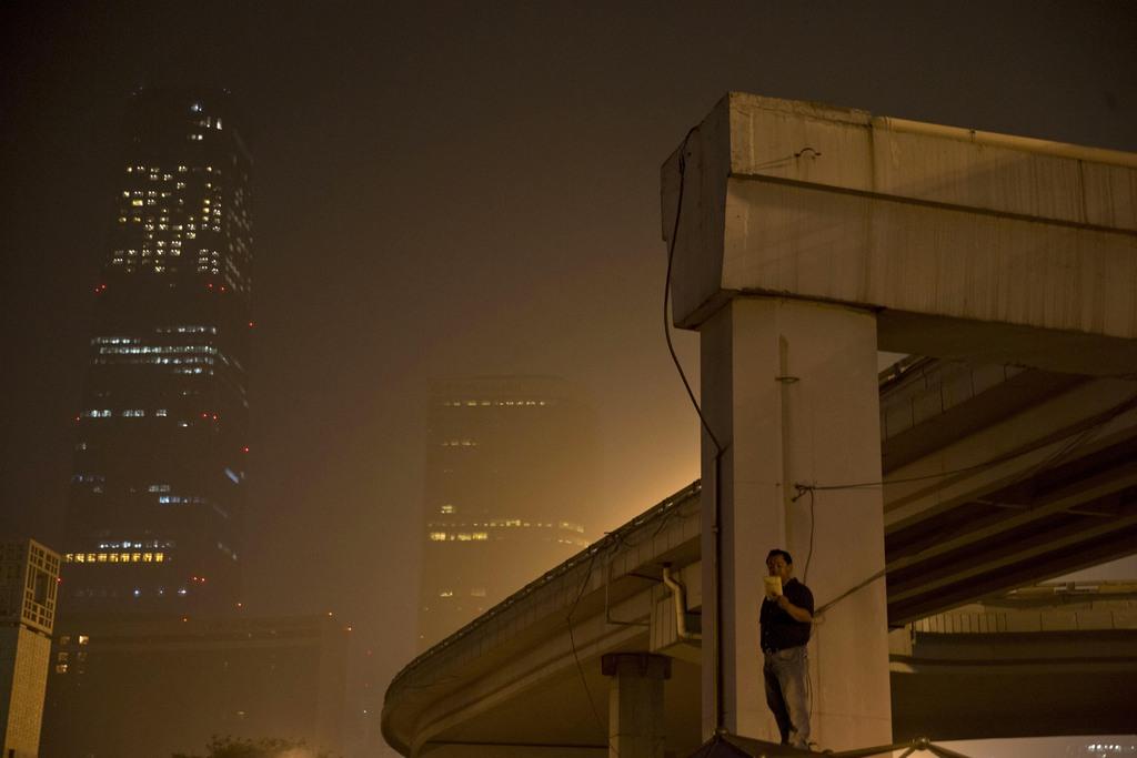 Nachts in Beijing, China (Keystone/AP Photo/Ng Han Guan)