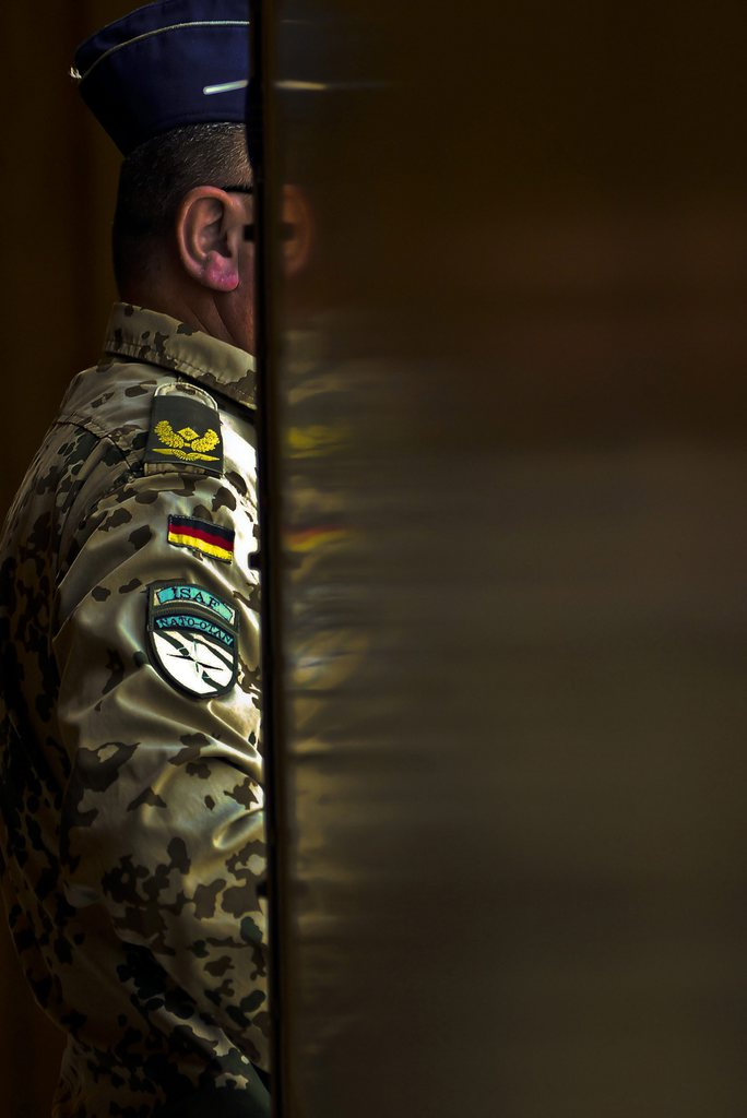 Deutscher Soldat in Mazar-i-Sharif, Afghanistan (Keystone/EPA/Sayed Mustafa)