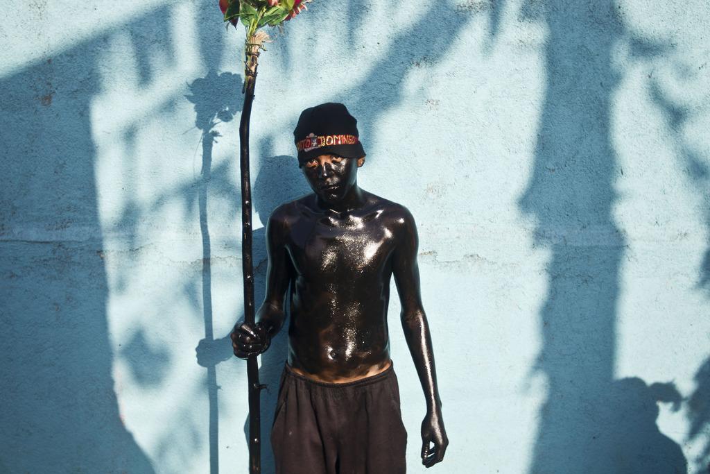 Teilnehmer an einem Fest für einen Heiligen in Managua, Nicaragua (AP Photo/Esteban Felix)