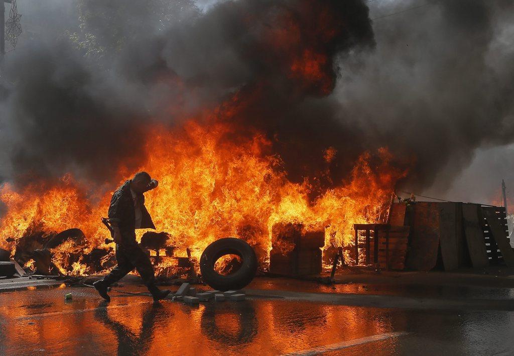 Proteste in Kiew, Ukraine (Keystone/EPA/Sergey Dolzhenko)