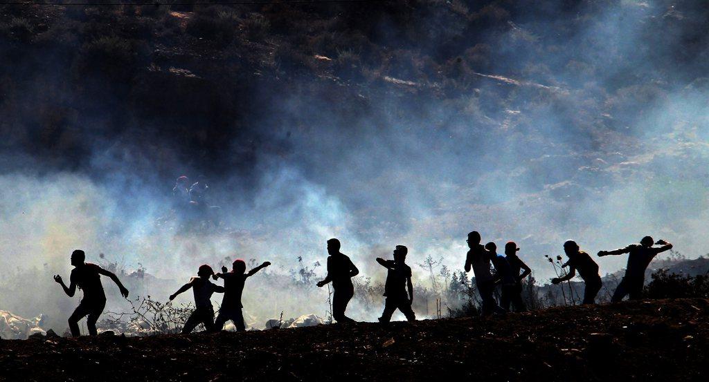 Proteste beim Grenzübergang Bet Forik, Nablus (Keystone/EPA/Alaa Badarneh)