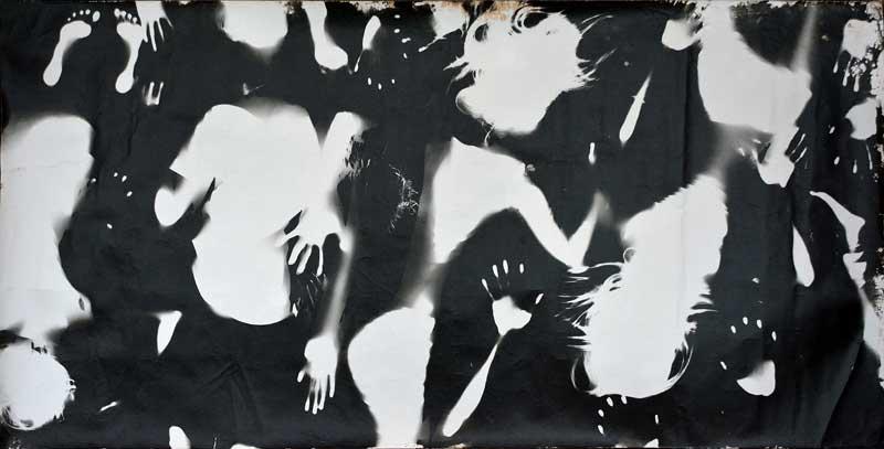 Alchemisten in Pankow, Fotogruppe der Jugendkunstschule Pankow, Berlin, Ø 15 Jahre, Deutscher Jugendfotopreis 2014, Titel: Körperfotogramm
