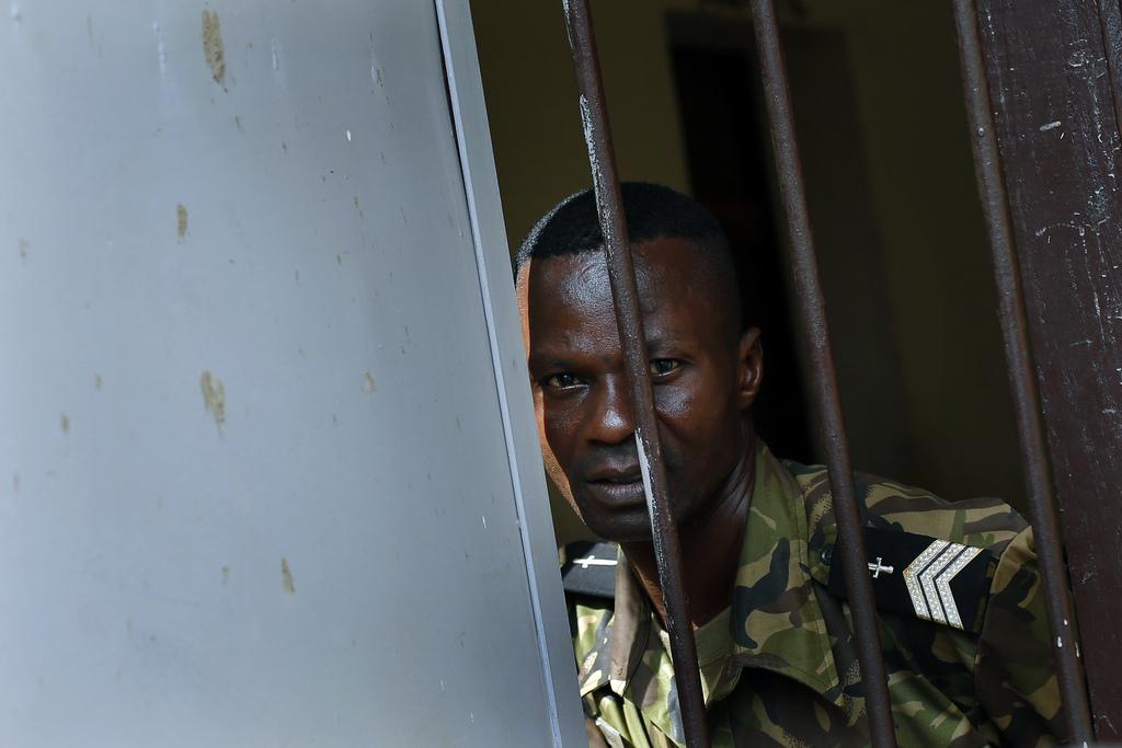 Gefängniswärter in Bangui, Zentralafrika (Keystone/AP Photo/Jerome Delay)