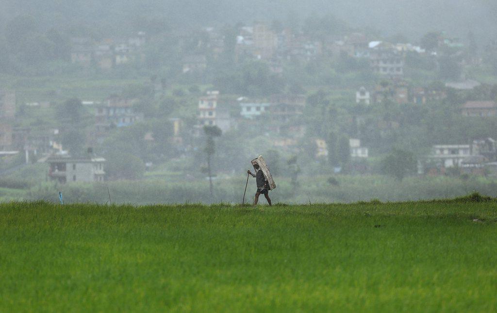 Bauer in Khokana, Nepal (Keystone/EPA/Narendra Shrestha)