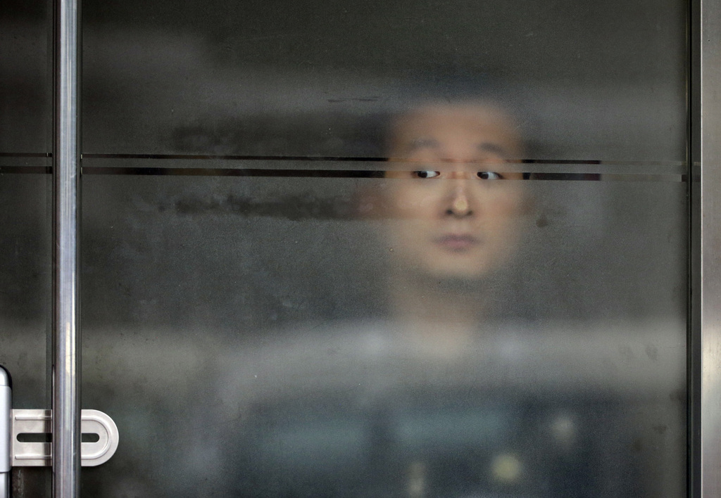 Wachmann in Seoul, Südkorea (Keystone/AP Photo/Gregorio Borgia)