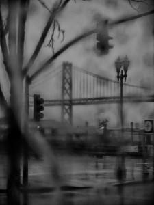 Bay Bridge im Regen/(c) Sofie Dittmann