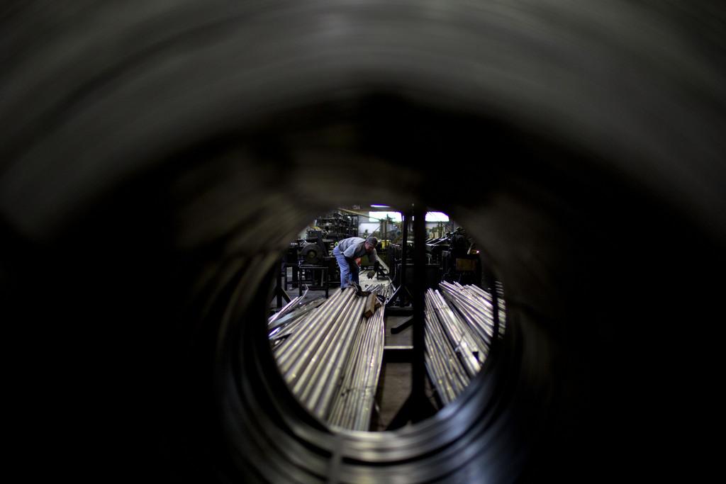 In einer Fabrik in Buenos Aires, Argentinien (Keystone/AP Photo/Natacha Pisarenko)