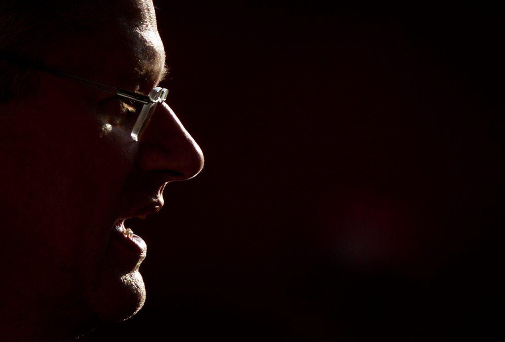 Stephen Harper in Langley, Kanada (Keystone/AP Photo/Darryl Dyck)