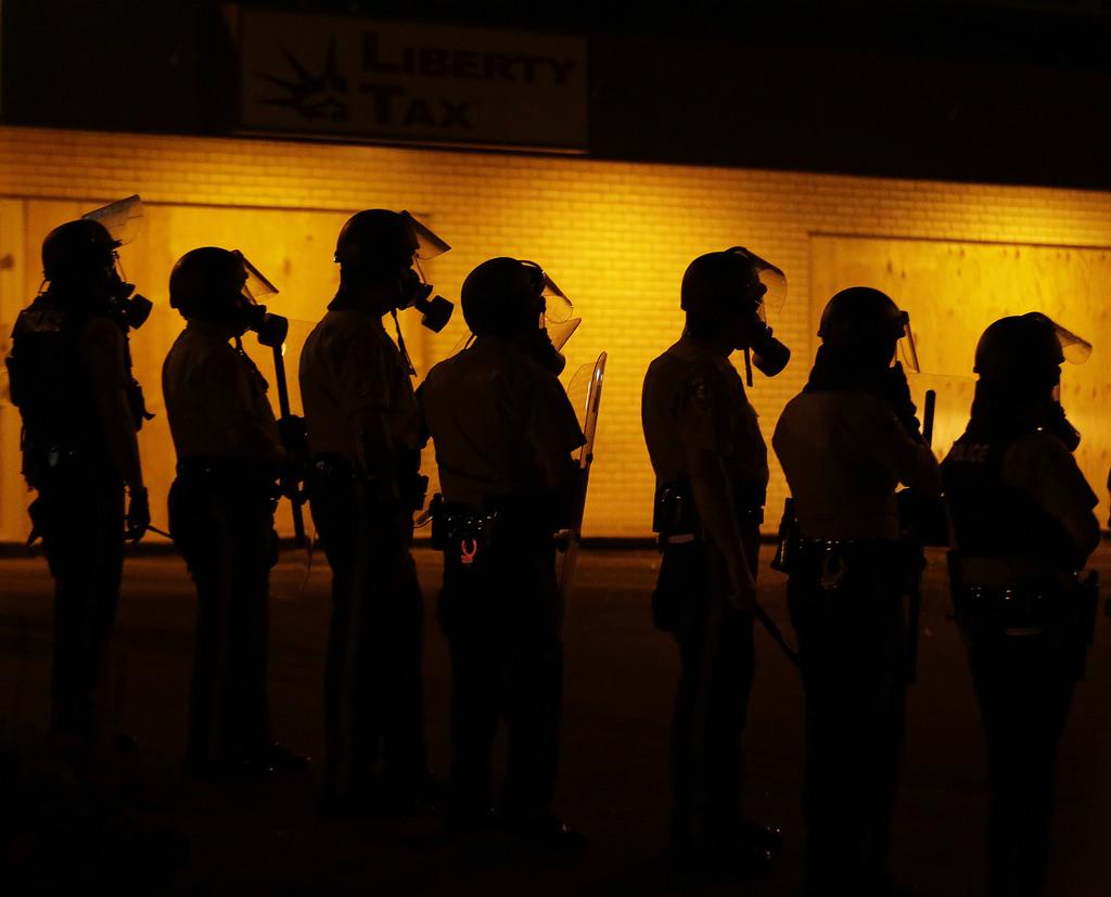 Unruhen in Ferguson, USA (Keystone/AP Photo/Charlie Riedel)