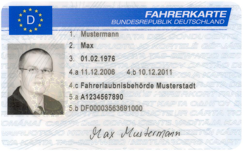 Abb. 5: ´ Berufskraftfahrer Max Mustermann´ (Quelle: Gemeinfrei)